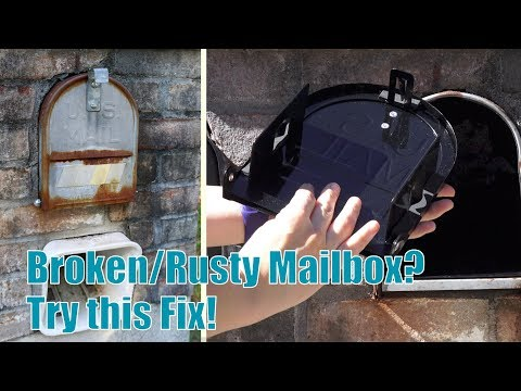 Quick Fix for Broken Metal & Brick Mailbox!