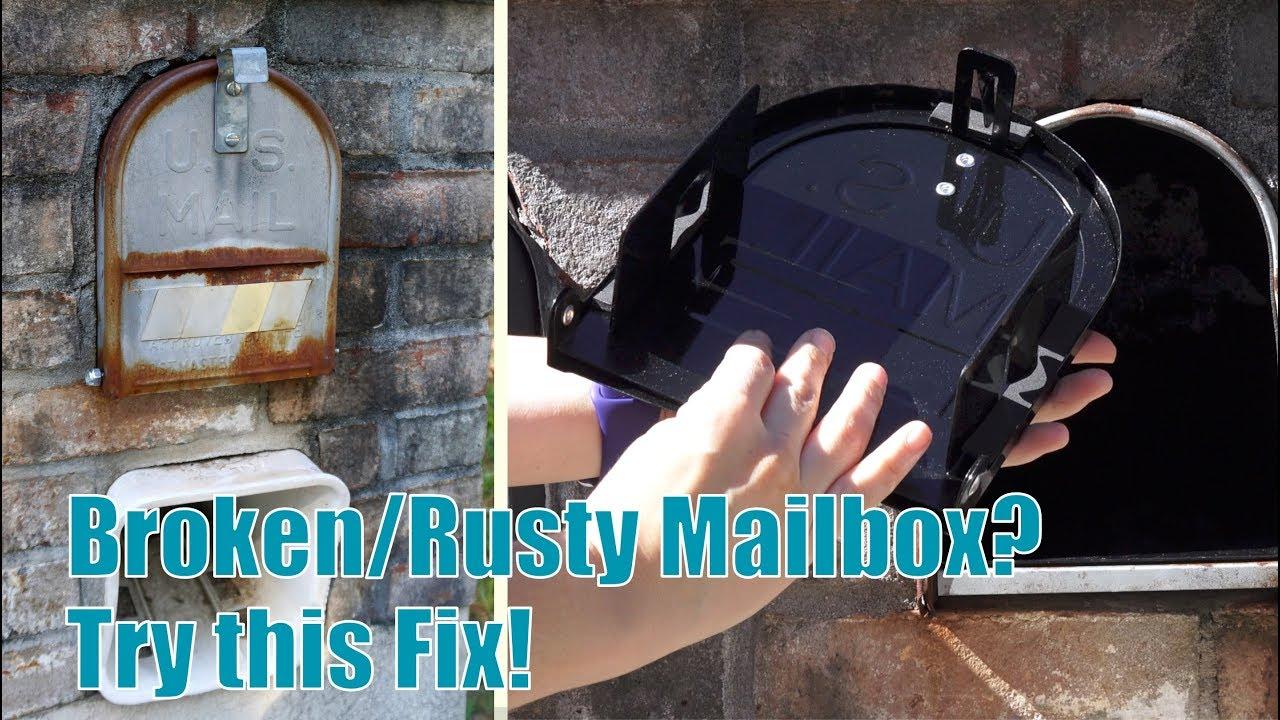 Quick Fix For Broken Metal Brick Mailbox