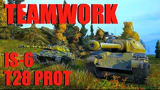 WOT - Teamwork IS-6 T28 Prot | World of Tanks with Claus