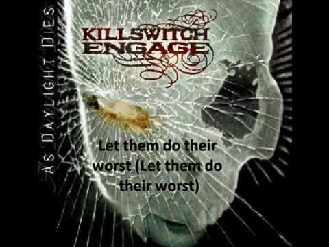 This is Absolution - Killswitch Engage - lyrics on screen