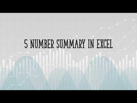 How To Find A Five Number Summary In Excel