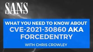 What you Need to Know about CVE-2021-30860 aka FORCEDENTRY w/ Chris Crowley