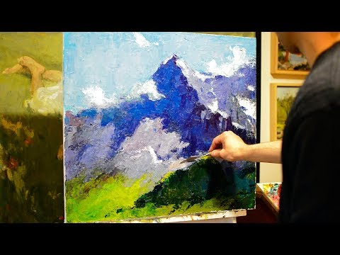 How to paint with a knife? Tips for beginners.