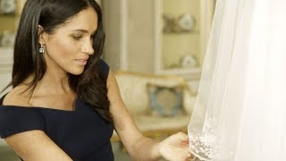 Watch the Duchess of Sussex talk about her wedding dress for the first time