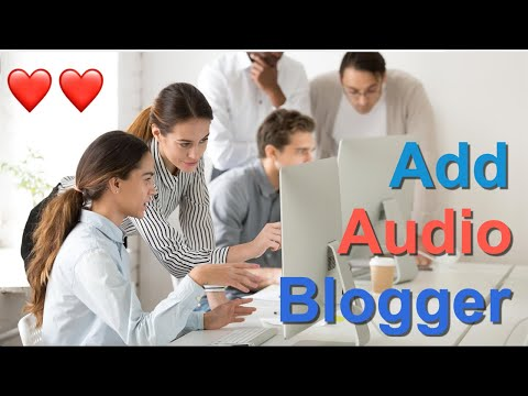 Add Audio to Blogger