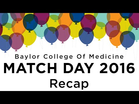 Match Day 2016 at Baylor College of Medicine