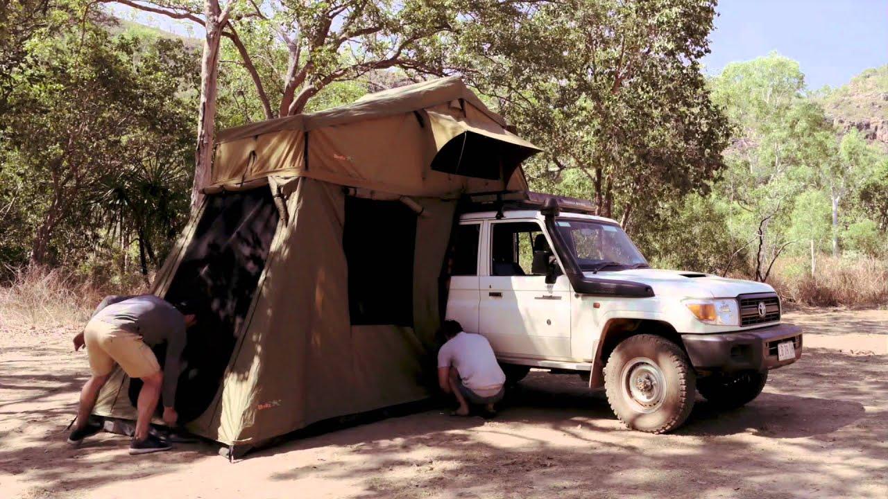 Safari Landcruiser Tent Set Up - Britz Australia & Safari Landcruiser Tent Set Up - Britz Australia - YouTube