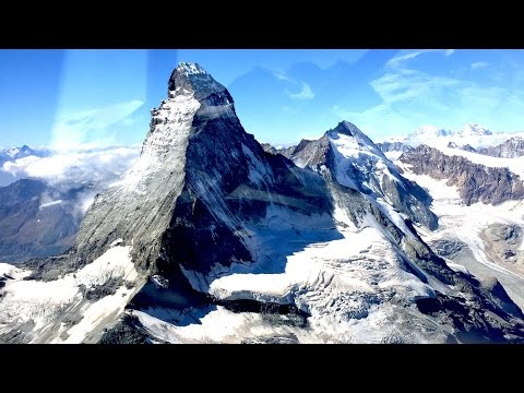 Matterhorn and VFR on Top over the Alps: Fricktal (LSZI) to Sion (LSGS) (360 degree video)