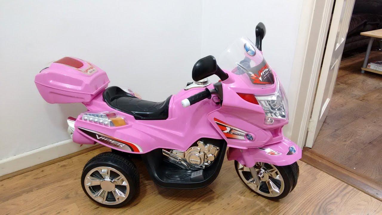 pink bmw style ride on motorbike walkaround   power wheels