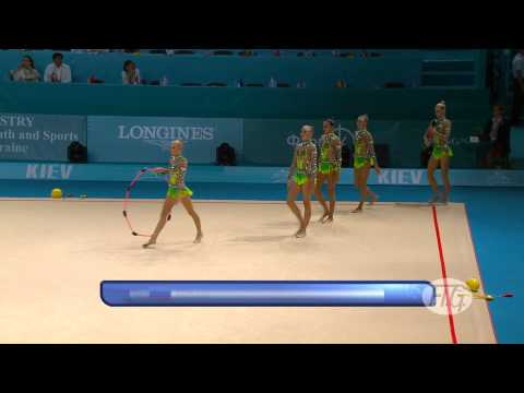 2013 Rhythmic Worlds - Kiev, Ukraine - Group Final 10 Clubs