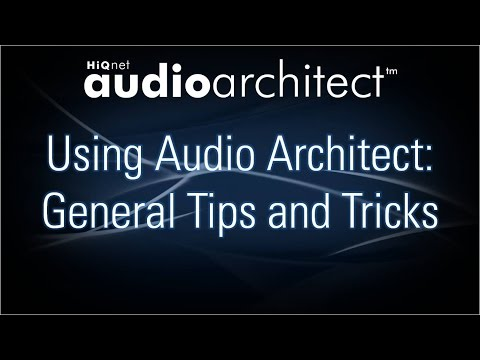 BSS - Using Audio Architect: