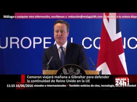 Málaga 24h TV - Cameron viajará a Gibraltar para defender la continuidad en la UE