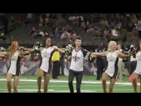 Houston - First-Ever Male NFL Cheerleader Slays At Saints Game