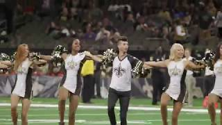 Watch as Jesse Hernandez, the first ever male Saintsation, performs in Superdome