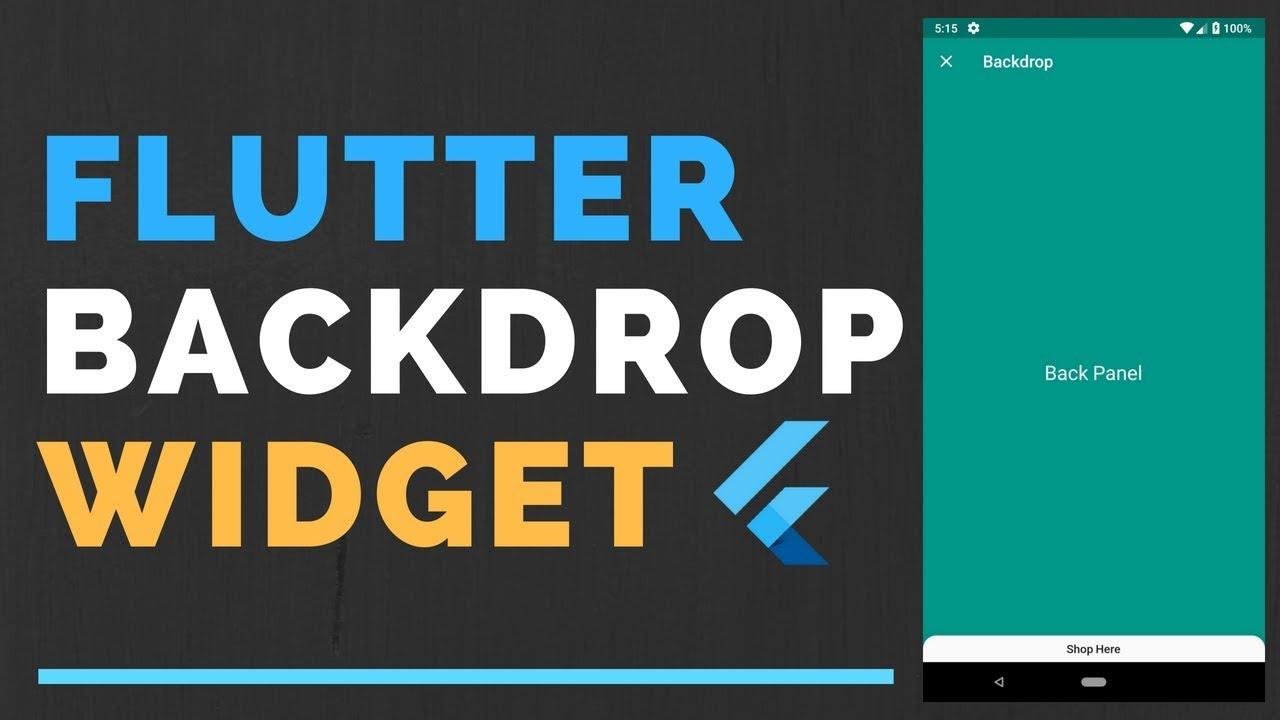 flutter backdrop widget tutorial