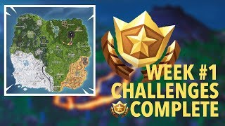 SEASON 8 CHALLENGES SOLVED! | Fortnite Season 8 Week #1 Challenges