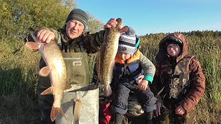 Рыбалка на Налима и Щуку на Спиннинг и Закидушки Выезд Всей Семьёй на Реку
