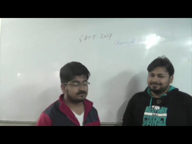 GATE 2017 Chemical Engineering Analysis by Ankur and Ankush