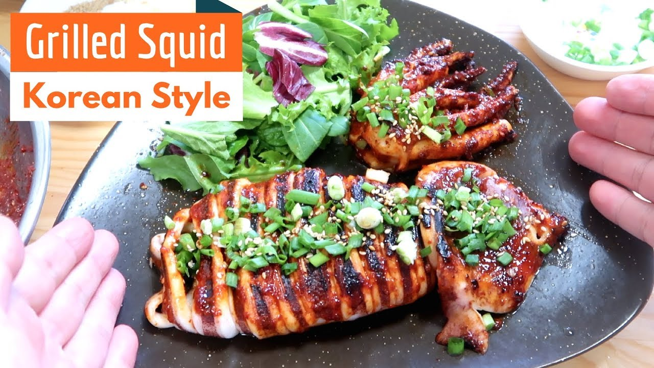 how to make grilled squid tender
