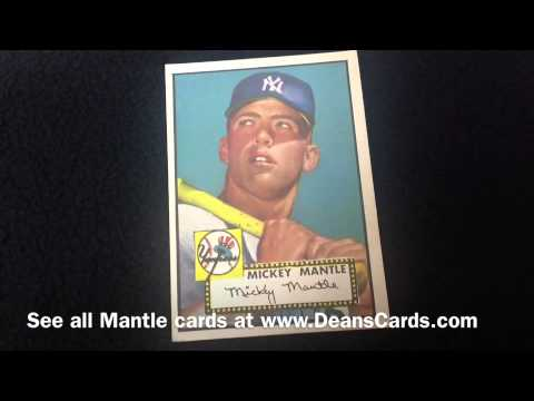 Mickey Mantle Rookie Baseball Cards