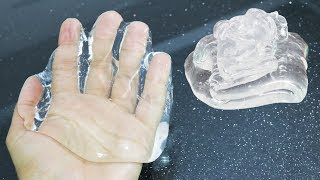 How to Make PURE CLEAR SLIME with Hair Gel No Borax Recipe