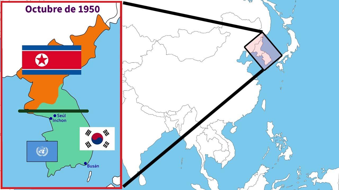 Guerra De Corea Mapa.Guerra De Corea Youtube