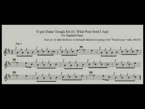 O Gur Duine Truagh Mi (Tweed Loops) Incl. Sheet Music For Pipes