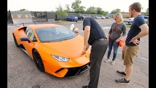 Picking Up A Lamborghini Huracan Performante