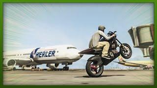 GTA 5 Stunts - Airport Bike Stunts! - (GTA V Stunts & Fails)