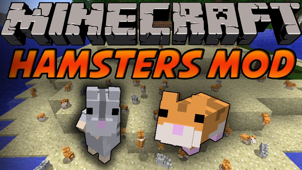minecraft mods hamsters mod cute deadly 1 5 youtube