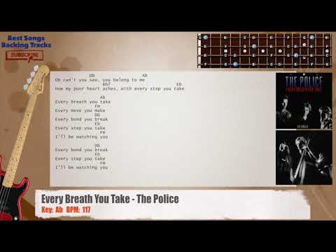 Every Breath You Take - The Police Bass Backing Track with chords ...