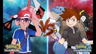 Pokemon Ultra Sun and Ultra Moon: Dark Ash Vs Gary (Rival Gary Vs Ash)