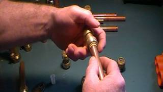 The Old plumber shows how to join copper pipe without soldering.