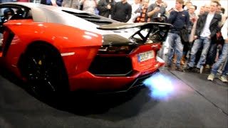 LOUD Lamborghini Aventador by JP-Performance spitting flames! - Essen Motor Show 2015