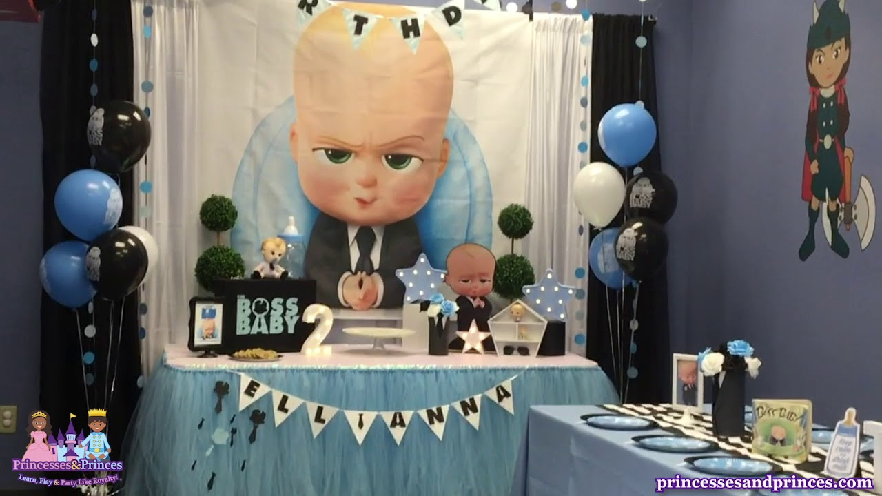 Boss Baby Toddler Birthday Party Theme Ocoee Orlando Fl Princesses Princes