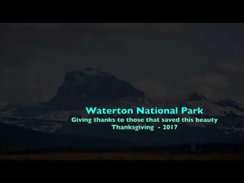 Waterton  Lake National Park - Thanksgiving Weekend 2017