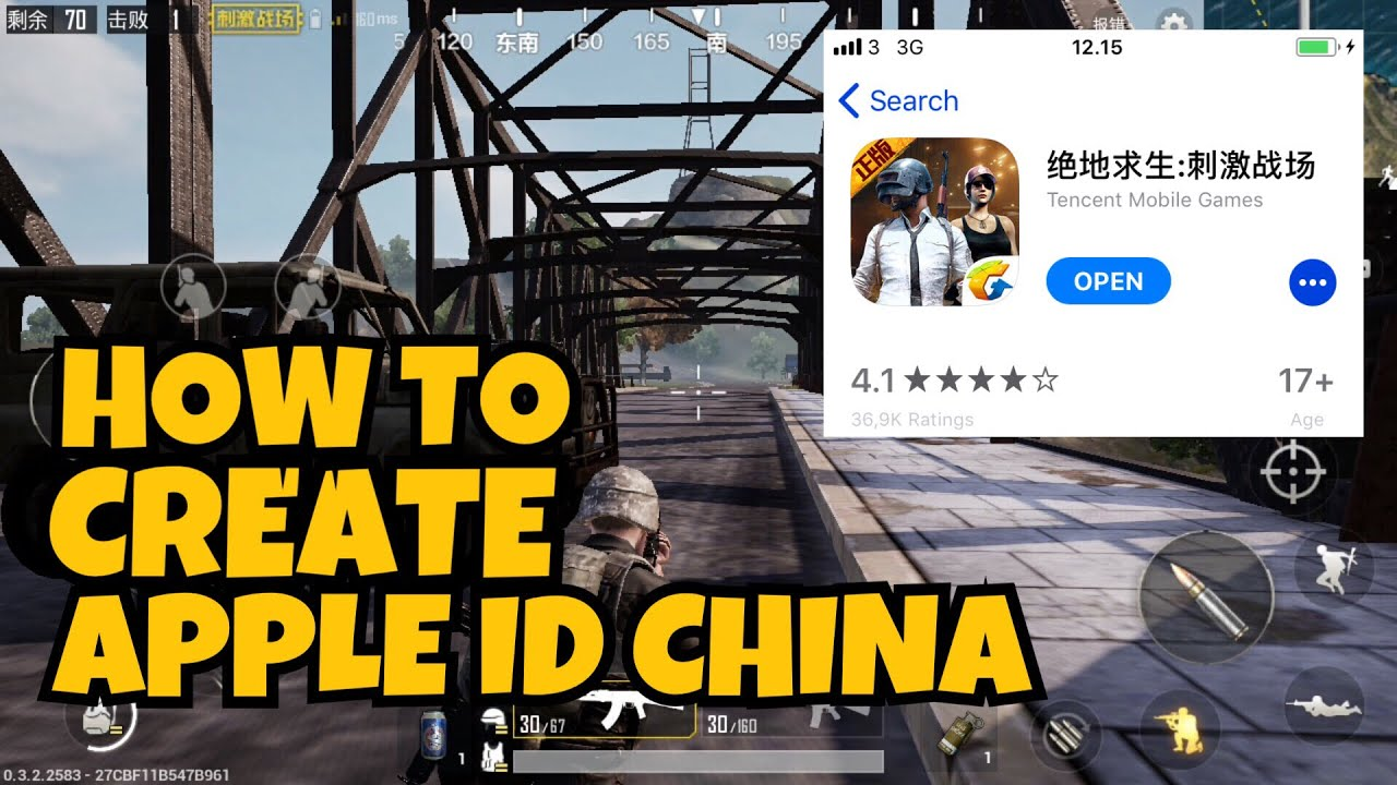 Pubg Create: How To Create Apple Id Region China ? How To Download Pubg