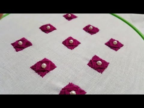 Easy Hand Embroidery:All Over Design For Kurti/kamiz!!!