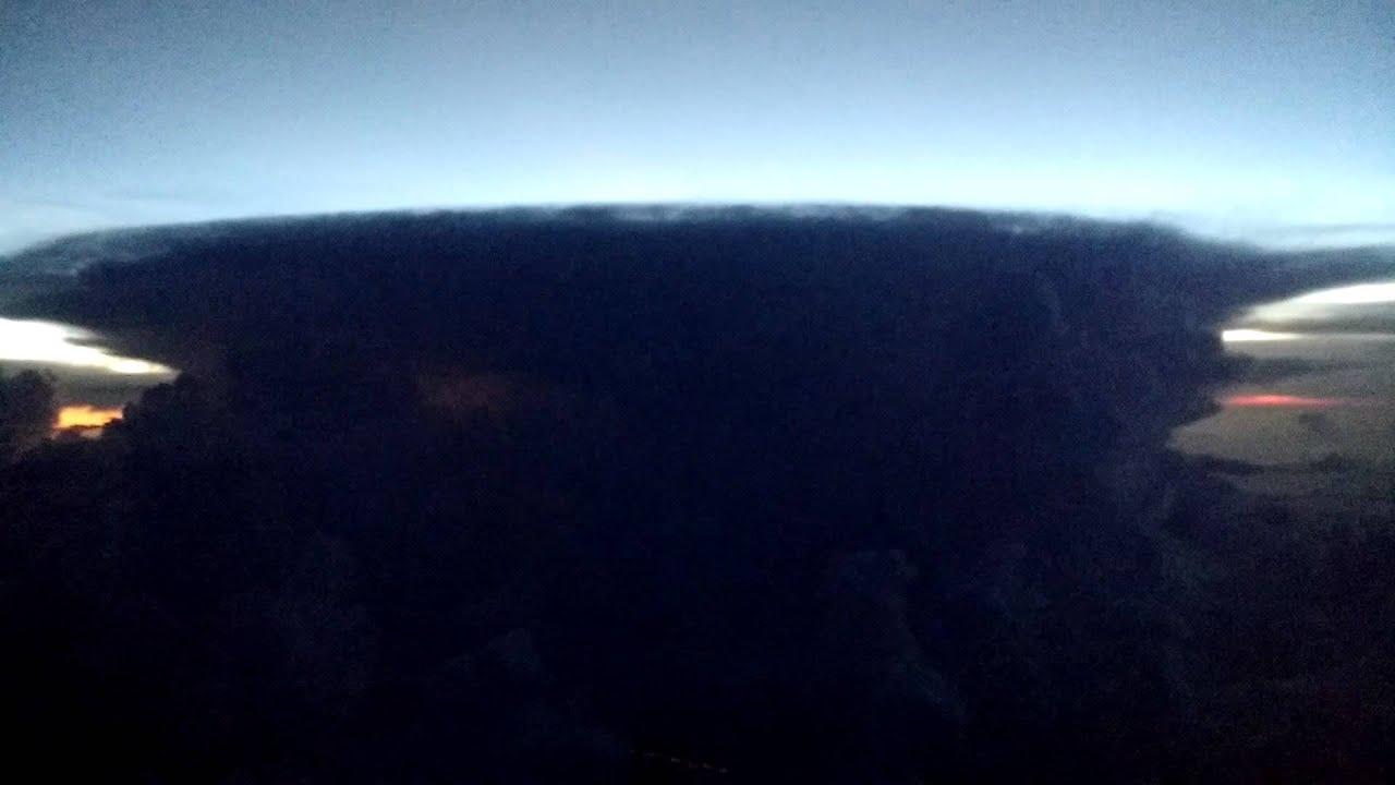 Anvil Cloud (Cumulonimbus incus) from plane at cruising ...