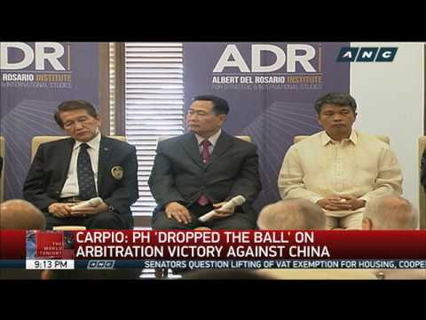 Carpio: PH 'dropped the ball' on arbitration victory against China