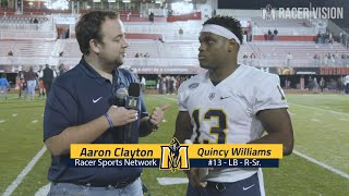Racer Football - Players 11-17-18 Austin Peay Postgame