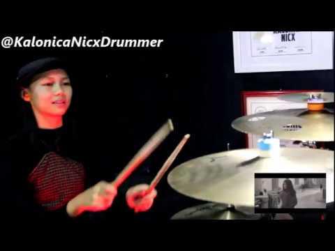 Raisa x Isyana - Anganku Anganmu Drum Cover by 12 yo Kalonica Nicx