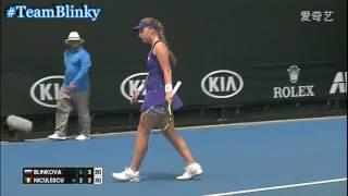 2017 Australian Open R1 Blinkova vs Niculescu HL