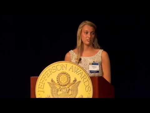 Tiffani Webb, WCHS - Charleston, WV at 2013 National Jefferson Awards in Washington, DC