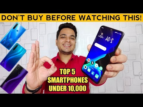 Top 5 Best Smartphones Under 10000 In November 2019 🔥🔥