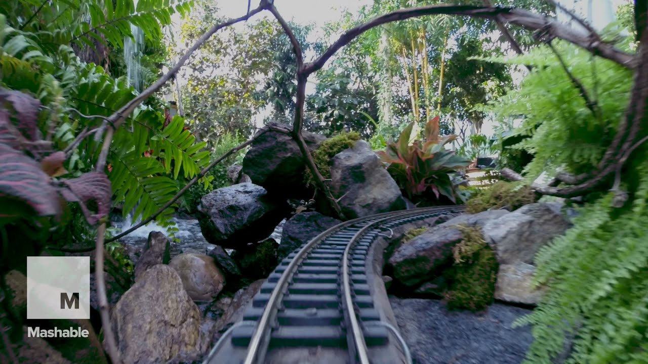 Holiday Train Show Ride Through New York 39 S Botanical Garden Mashable Youtube