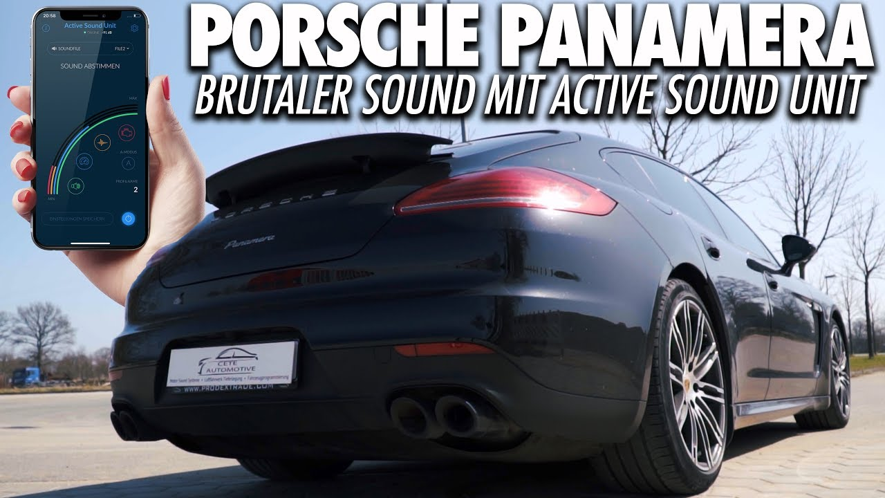 Complete-Kit Active Sound with Soundbooster and APP-Control - Porsche  Panamera