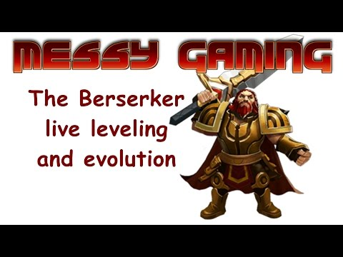 The Berserker Live Leveling and Evolution | Clash of Lords 2