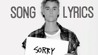 SORRY Justin Bieber Lyric Video