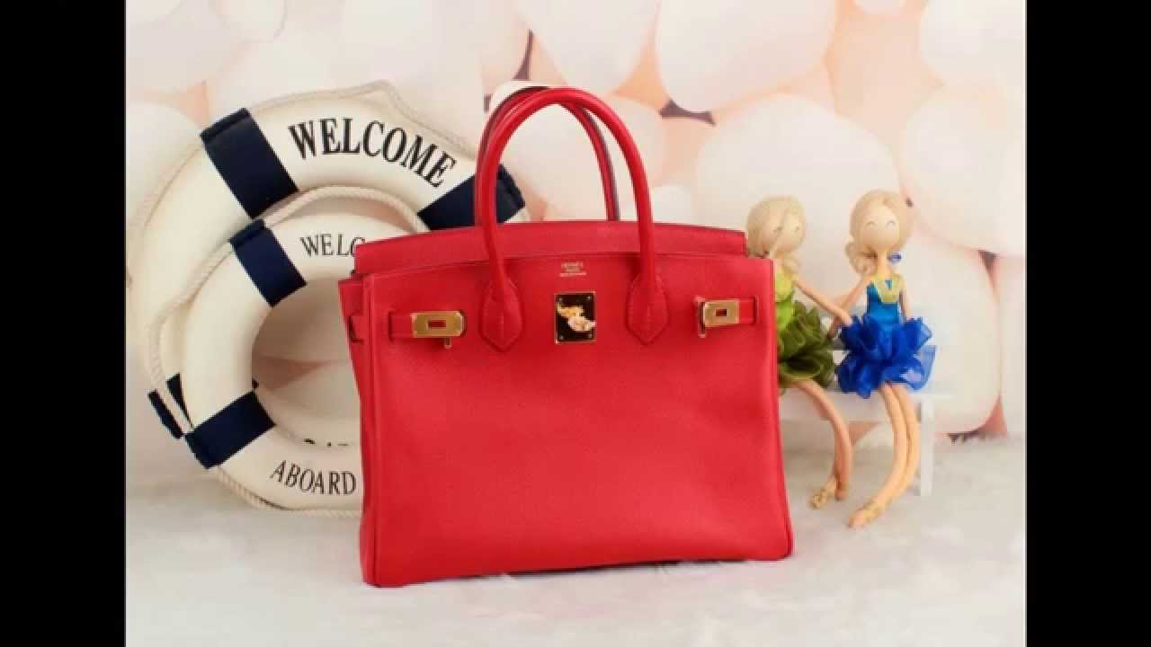 hermes ostrich birkin bag - Hermes epsom birkin 30 rouge casaque bag - YouTube